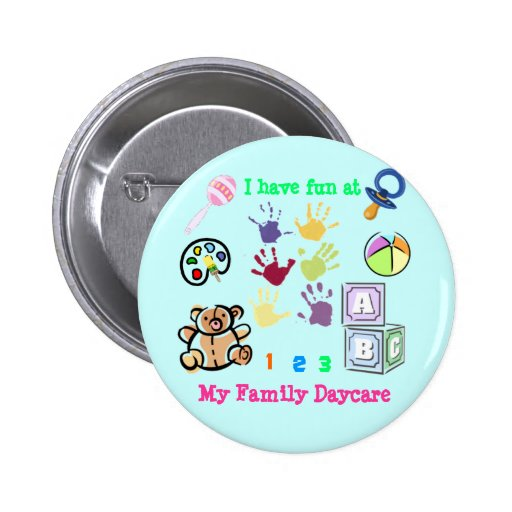 Family Daycare fun 2 Inch Round Button