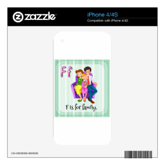 Family Decals For iPhone 4S