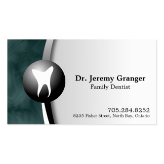 Family Dentist Business Card - Tooth Teal & White