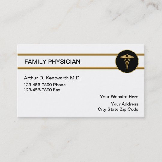 family doctor business cards - Doctor Business Card