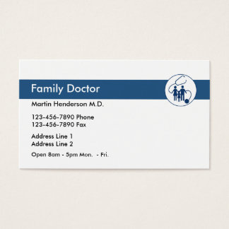 Family Doctor Office Business Card
