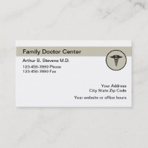 Family Doctor Office Organized Business Card