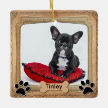 Family Dog Frame - DIY Photo Ceramic Ornament