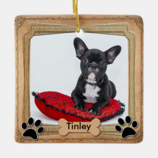 Family Dog Frame - DIY Photo Ceramic Ornament