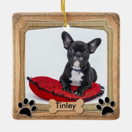 Family Dog Frame - DIY Photo Ceramic Ornament   Zazzle.com