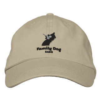 Family Dog Radio Embroidered Hat -tan