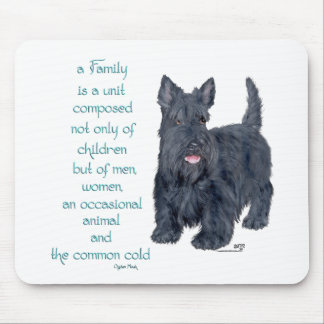 Family Dynamics - Scottish Terrier Wit & Wisdom Mouse Pad