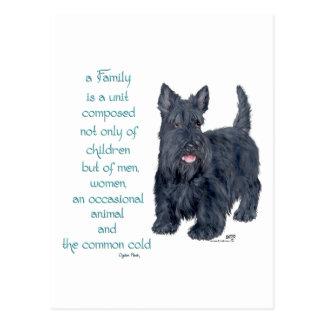 Family Dynamics - Scottish Terrier Wit & Wisdom Postcard
