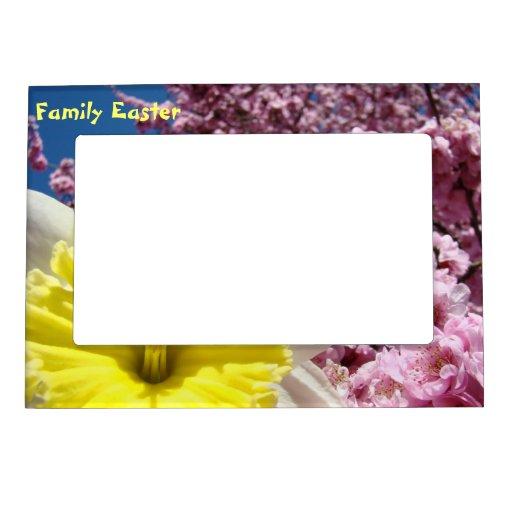 Family Easter magnetic photo frame Daffodil Flower