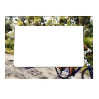 Family enjoying a cycle ride magnetic frames