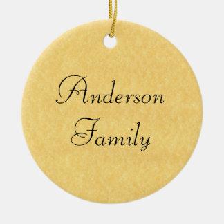 Family Established Ceramic Ornament
