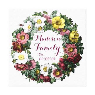 family established sign canvas print