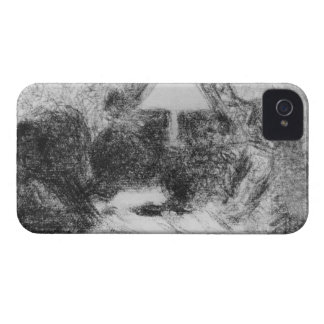 Family evening by Georges Seurat iPhone 4 Cover