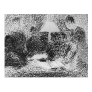 Family evening by Georges Seurat Postcard