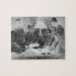 Family evening by Georges Seurat Jigsaw Puzzle