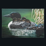 "Family Excursion Placemat<br><div class=""desc"">Loon family out and about for a day out.