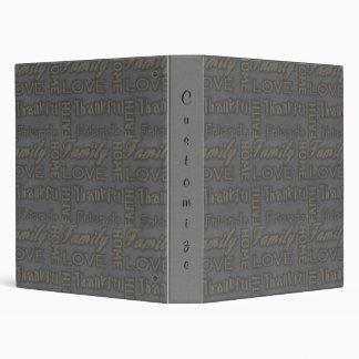 Family, Faith, Home, Love, Thankful Notebook Album 3 Ring Binder