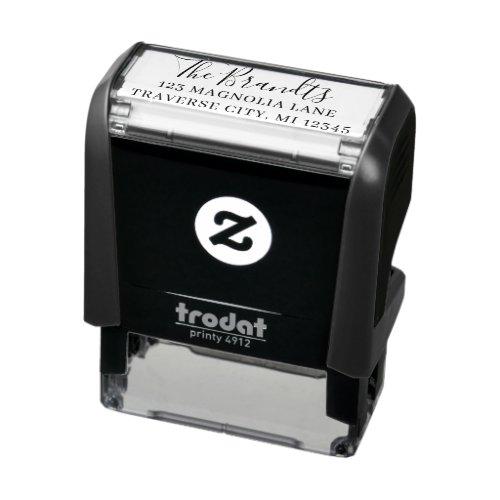 Family Fancy Return Address Self_inking Stamp