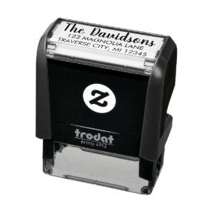 Custom Self Inking Return Address Stamp client gift wedding engagement gift wedding stamp housewarming gift rubber stamp