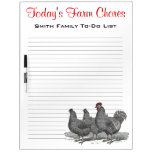 Family Farm Chores, Work Reminder Chickens Dry Erase Whiteboards