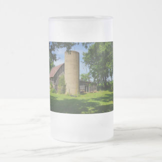 Family Farm Frosted Glass Beer Mug