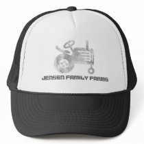 Family Farm Hat with tractor or custom logo