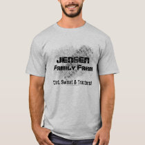Family Farm T-shirt with tractor track