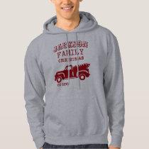 Family Farm Truck Custom Name Christmas Hoodie