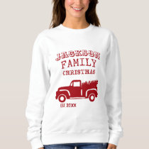 Family Farm Truck Custom Name Christmas Sweatshirt