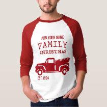 Family Farm Truck Custom Name Christmas T-Shirt