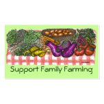 Family Farming profile card Double-Sided Standard Business Cards (Pack Of 100)