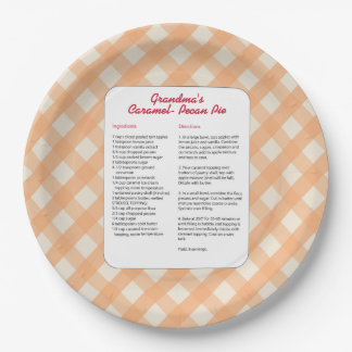 Family Favorite Recipe - Pie Paper Plate