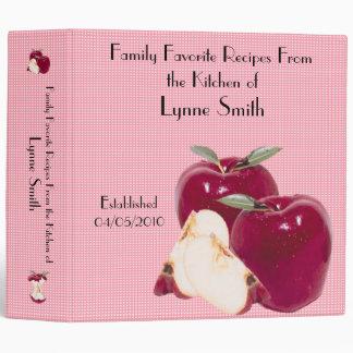 Family Favorite Recipes -- Apple design Binder