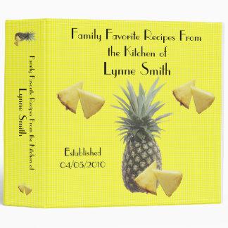 Family Favorite Recipes -- Pineapple design 3 Ring Binder