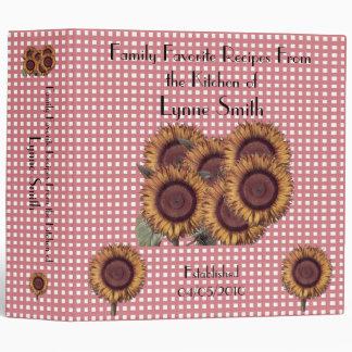 Family Favorite Recipes -- Sunflower design Binder
