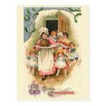 """Family Feast"" Vintage Christmas Postcard"
