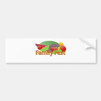 Family Fest Car Bumper Sticker