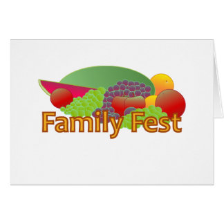 Family Fest Invitation Stationery Note Card