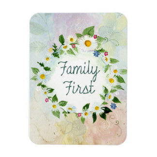 "Family First 3""x4"" Photo Magnet"