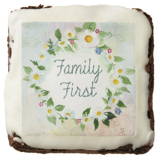 Family First Inspirational Quote Brownie