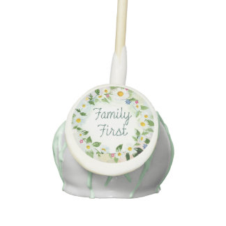 Family First Inspirational Quote Cake Pops