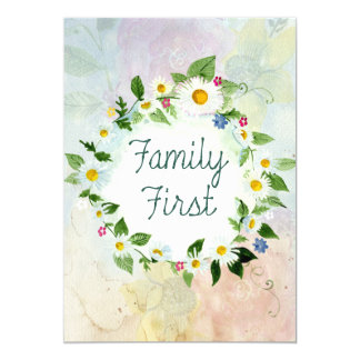 Family First Inspirational Quote Card