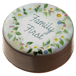 Family First Inspirational Quote Chocolate Covered Oreo