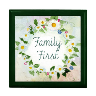 Family First Inspirational Quote Gift Box