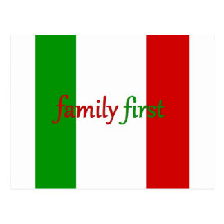 FAMILY FIRST - Italy / Mexico / Family Postcard