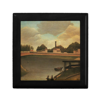 Family Fishing by Henri Rousseau Keepsake Box