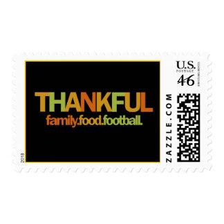 Family Food Football Postage Stamp
