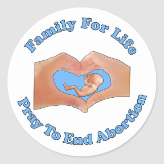 Family for Life Classic Round Sticker