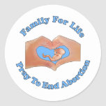Family for Life Round Sticker