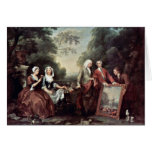 Family Fountaine Family Portrait By Hogarth, Greeting Card